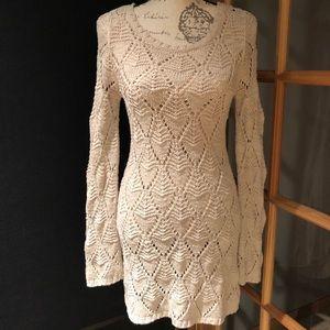 Frenchi Dresses - FRENCHI Open Knit Dress